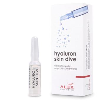 Hyaluron Skin Dive/Активные увлажняющие ампулы с несколькими формами гиалуроновой кислоты ALEX COSMETIC