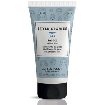 Гель средней фиксации для эффекта мокрых волос Style Stories Wet Gel ALFAPARF