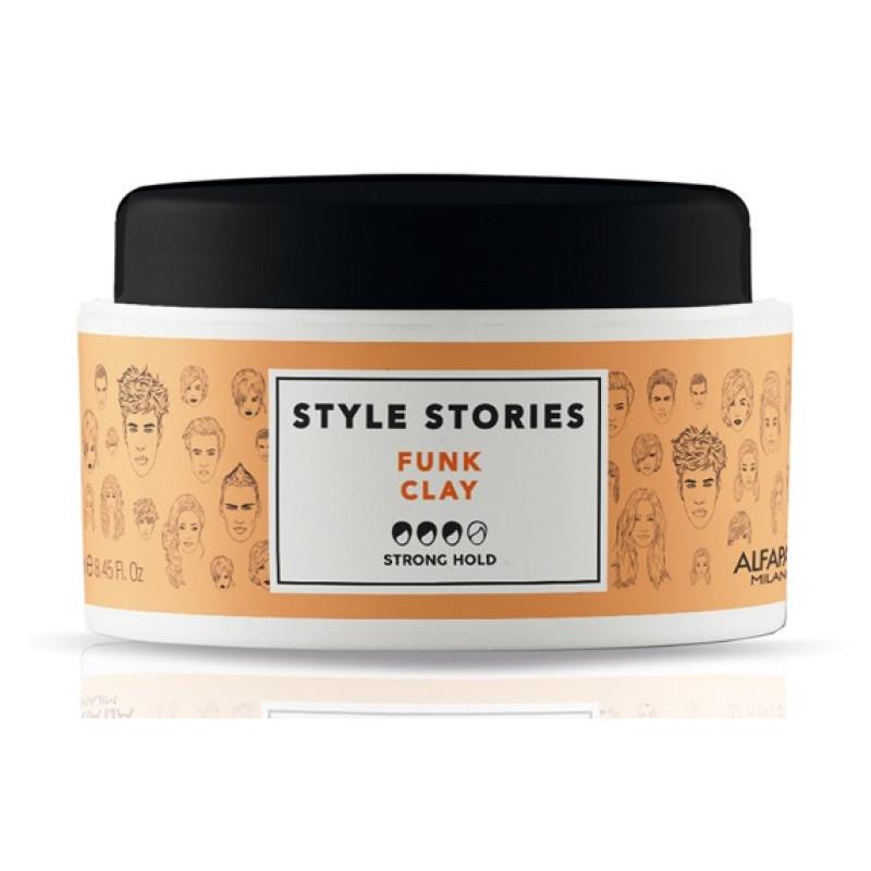 Глиняная паста сильной фиксации для эффекта матовых волос Style Stories Funk Clay ALFAPARF