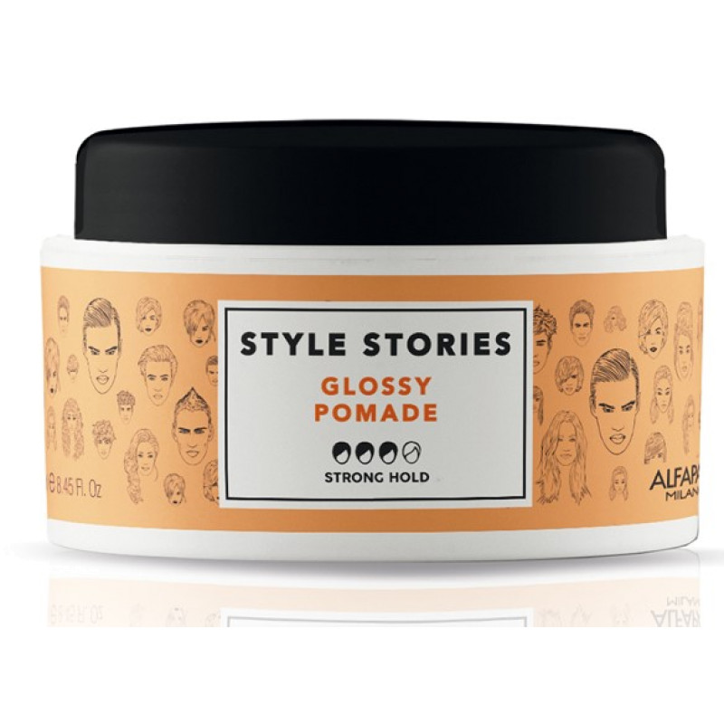 Помада сильной фиксации, придающая экстра блеск Style Stories Glossy Pomade ALFAPARF