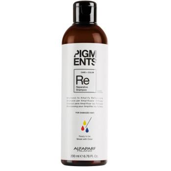 Шампунь восстанавливающий для поврежденных волос Pigments Reparative Shampoo ALFAPARF