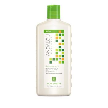 Шампунь для жёстких и вьющихся волос Exotic Marula Oil Silky Smooth Shampoo ANDALOU NATURALS
