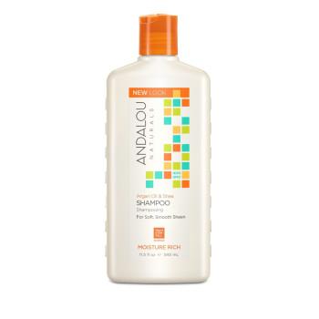 Шампунь для увлажнения волос Argan Oil & Shea Moisture Rich Shampoo ANDALOU NATURALS