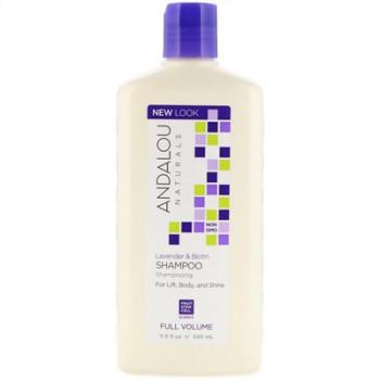 Шампунь для объема волос Lavender & Biotin Full Volume Shampoo ANDALOU NATURALS