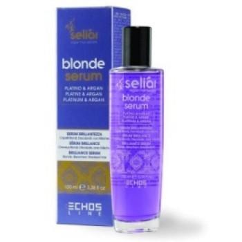 Флюид с с частицами платины, аргановым маслом, маслом семени льна и УФ фильтром Blonde Serum ECHOSLINE