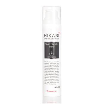 Ночной антивозрастной крем сияние молодости для жирной и комбинированной кожи TIME TRAVEL CREAM HIKARI