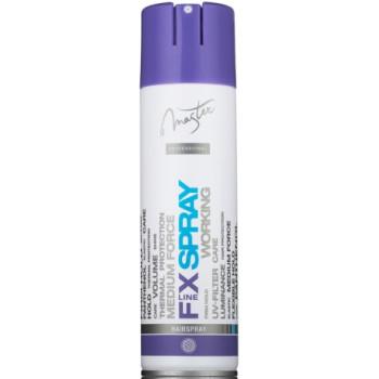 Лак для волос эластичной фиксации с Пантенолом, термозащитой и UV-фильтром WORKING SPA MASTER PROFESSIONAL