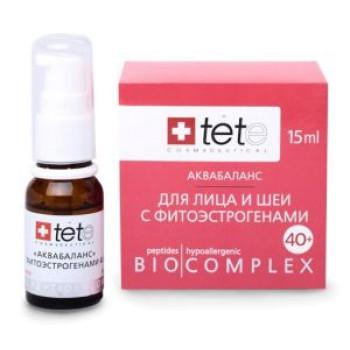 Биокомплекс аквабаланс с фитоэстрагенами 40+ (Умные пептиды) 15мл Tete