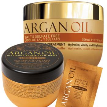 Интенсивно восстанавливающая увлажняющая маска для волос с маслом Арганы ARGAN OIL KATIVA