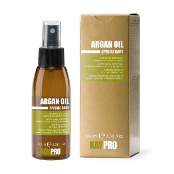 Масло-спрей аргановым маслом против сухости волос KAYPRO