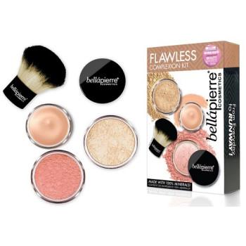 Набор рассыпчатых минеральных пудр для естественного сияния кожи лица Flawless Complexion Kit BELLAPIERRE