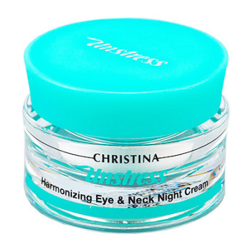 Unstress Harmonizing Eye & Neck Night Cream Гармонизирующий ночной крем для кожи вокруг глаз и шеи Christina (Кристина)