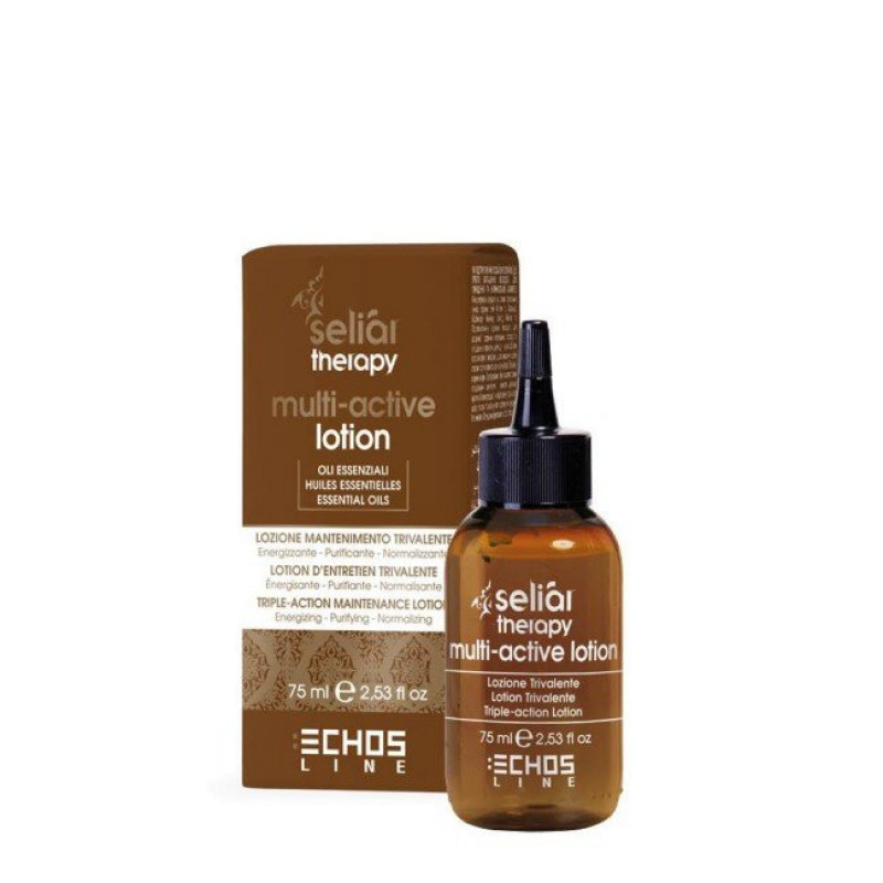 Лосьон-уход тройного действия:против выпадения волос, для очищения и нормализации баланса кожи головы Multi Active Lotion ECHOSLINE