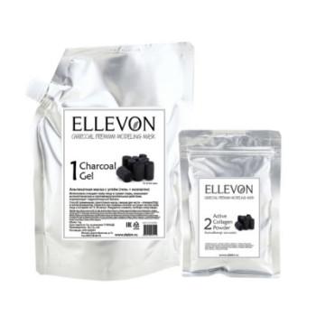 Премиум альгинатная маска с углем ELLEVON