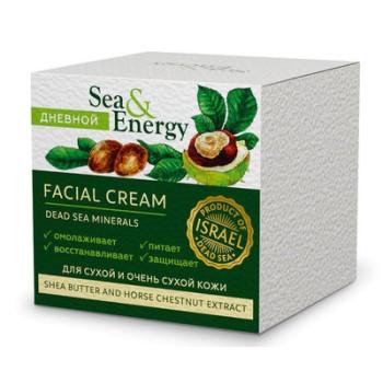 Крем для сухой и очень сухой кожи лица с маслом ши и экстрактом конского каштана SEA & ENERGY