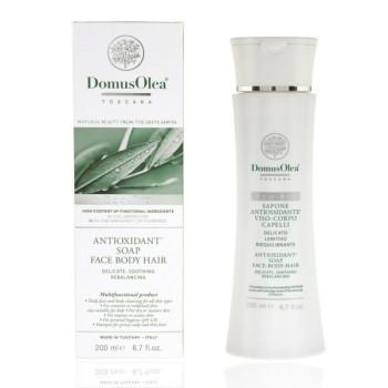 Мыло жидкое (для умывания, а также для мытья для лица волос и тела Антиоксидант) DOMUS OLEA
