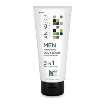 Гель для душа 3 в 1 (лицо,тело,волосы) MEN Invigorating Body Wash 3 IN 1 ANDALOU NATURALS