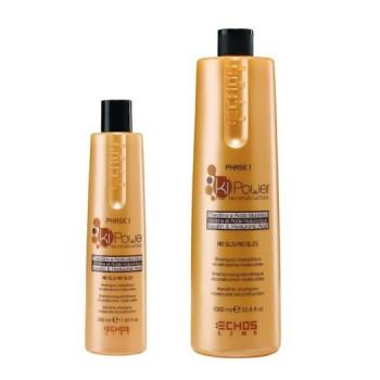 Шампунь на основе кератина и гиалуроновой кислоты Keratin Shampoo ECHOSLINE