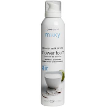 Мусс для душа, молочко кокоса-лайм / shower foam 200ml coconut milk-lime GREENLAND