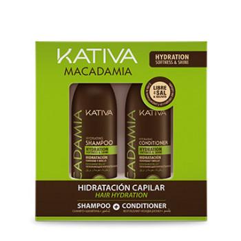 Набор интенсивно увлажняющий кондиционер + шампунь для нормальных и поврежденных волос MACADAMIA KATIVA
