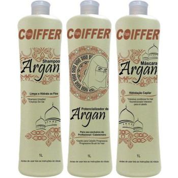 Профессиональный набор для выпрямления и восстановления для смешанного типа волос Argan COIFFER