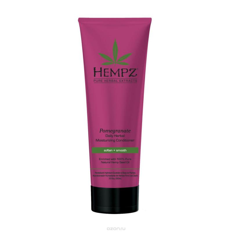 Кондиционер растительный увлажняющий и разглаживающий Гранат Daily Herbal Moisturizing Pomegranate Conditioner HEMPZ