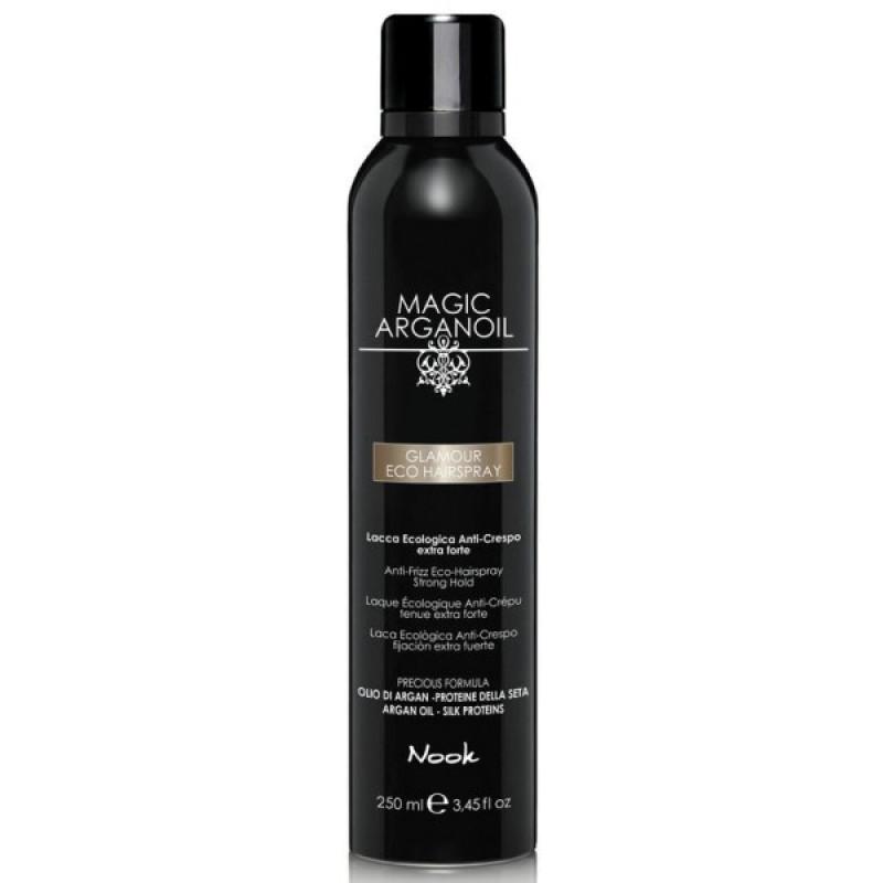 Гламурный лак для волос Магия Арганы Glamour Eco Hairspray NOOK
