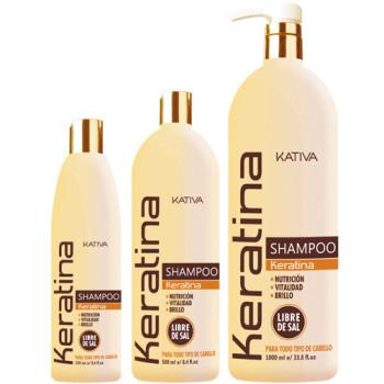 Кератиновый укрепляющий шампунь для всех типов волос KERATINA KATIVA