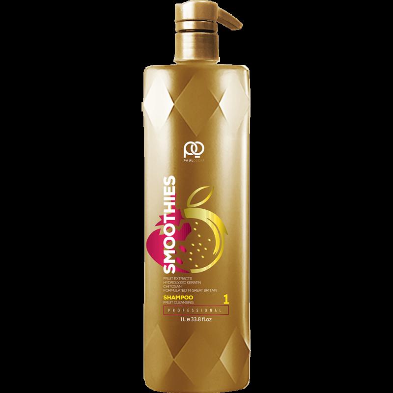 Подготавливающий шампунь Smoothies Smooth & Silky Fruit Cleansing Shampoo step 1 PAUL OSCAR