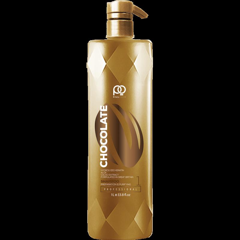 Подготавливающий шампунь Chocolate Max Straight Preparation & Purifying Shampoo step 1 PAUL OSCAR