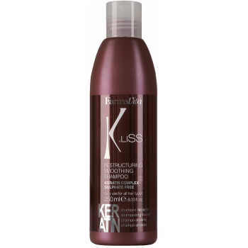 Реструктуризирующий шампунь с кератином K.Liss Restructuring smoothing shampoo FARMAVITA