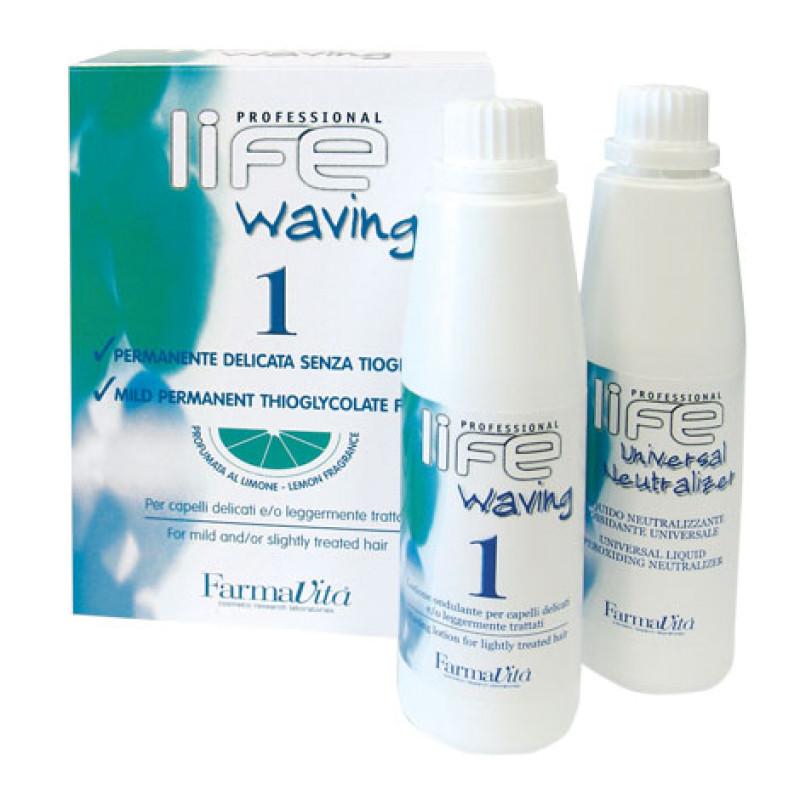 Химическая завивка для нормальных волос в наборе '1' LIFE WAVING '1' FARMAVITA