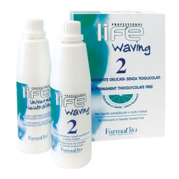 Химическая завивка для поврежденных волос в наборе '2' LIFE WAVING '2' FARMAVITA