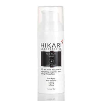 Омолаживающая маска для повышения упругости кожи лица с охлаждающим эффектом ICE AGE MASK HIKARI