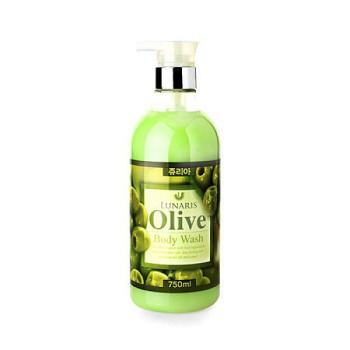 Гель для душа с оливковым маслом LUNARIS