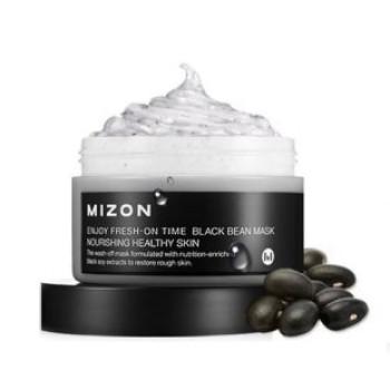 Маска для лица Enjoy Fresh-On Time Revital Black Been Mask MIZON