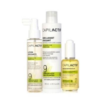 Набор успокаивающий раздраженную кожу головы (сыворотка + шампунь + лосьон) COIFFANCE