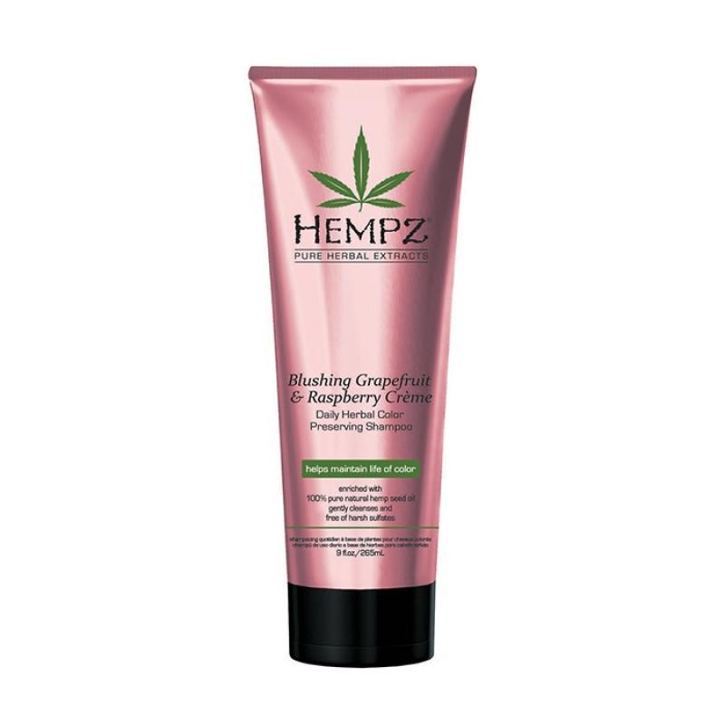 Шампунь Грейпфрут и Малина для сохранения цвета и блеска окрашенных волос Blushing Grapefruit&Raspberry Creme Shampoo HEMPZ