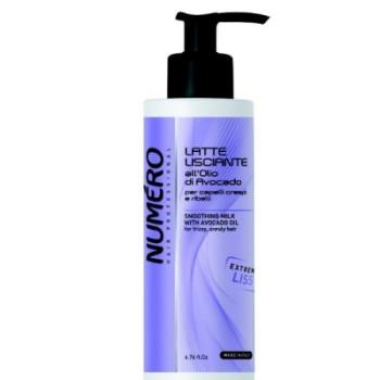 NUMERO LISS Молочко разглаживающее с маслом авокадо для пушистых и непослушных волос BRELIL PROFESSIONAL