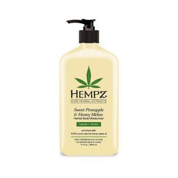 Молочко для тела увлажняющее Ананас Медовая Дыня Sweet Pineapple Honey Melon Herbal Body Moisturizer HEMPZ