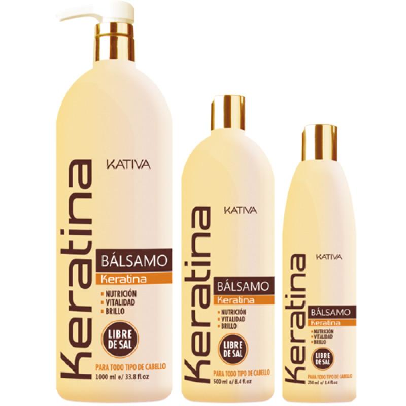 Кератиновый укрепляющий бальзам-кондиционер для всех типов волос KERATINA KATIVA