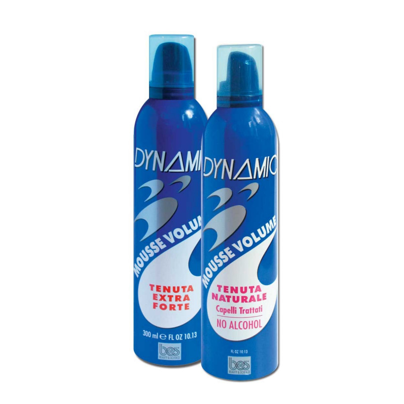 Пена для укладки DYNAMIC MOUSSE (для поврежденных волос, нормальной фиксации, суперсильной фиксации) BES