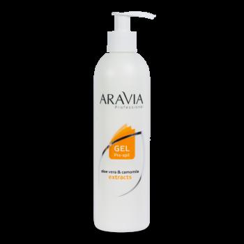 ARAVIA Professional Гель для обработки кожи перед депиляцией с экстрактами алоэ вера и ромашки