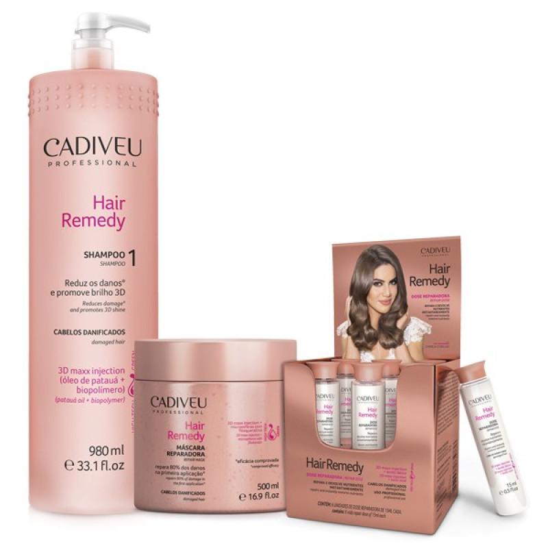 Набор средств для проведения процедуры нано-реконструкции Hair Remedy CADIVEU