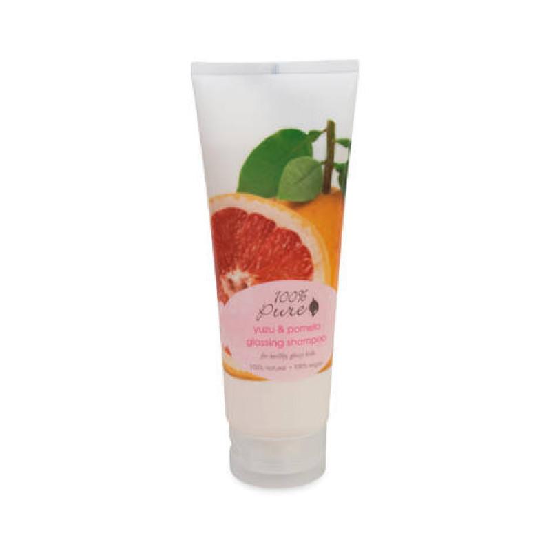 Шампунь для блеска волос Юзу и Помело Yuzu and Pomelo Glossing 100% PURE
