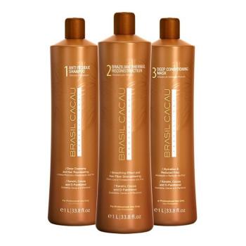 Набор средств для кератинового выпрямления волос BRASIL CACAU CADIVEU