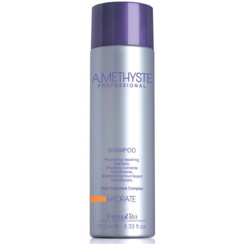 Увлажняющий шампунь для сухих и ослабленных волос Amethyste hydrate FARMAVITA