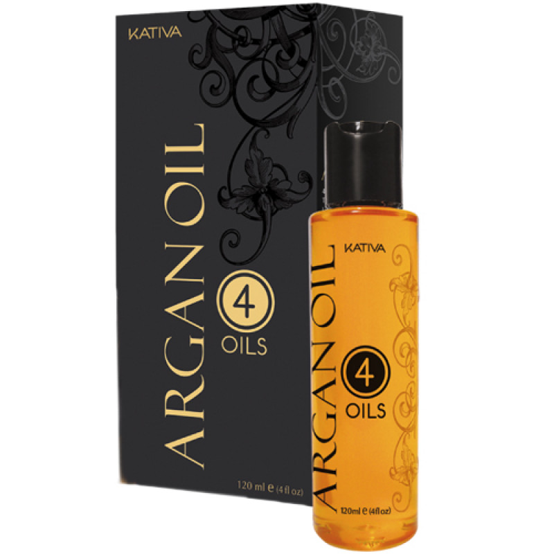 Восстанавливающий защитный концентрат для волос '4 масла' ARGAN OIL KATIVA