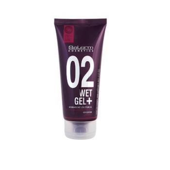 Гель средней фиксации с эффектом мокрых волос Wet Gel + Plus Salerm