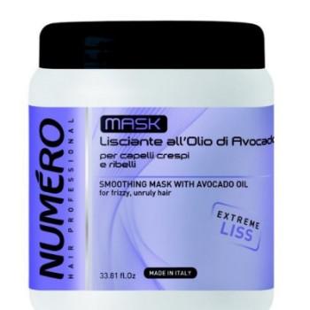 NUMERO LISS Маска разглаживающая с маслом авокадо для пушистых и непослушных волос BRELIL PROFESSIONAL